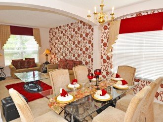 Full room - formal lounge and dining area