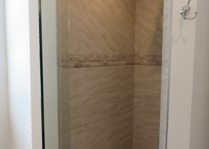 Master Shower Walk In Tiled