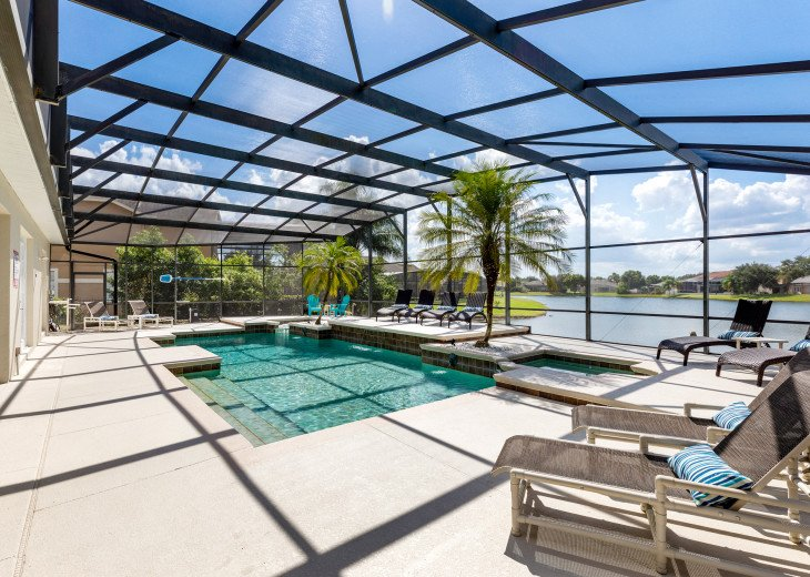 Lakeview Retreat, luxury villa, large pool, game room and cookout area #2