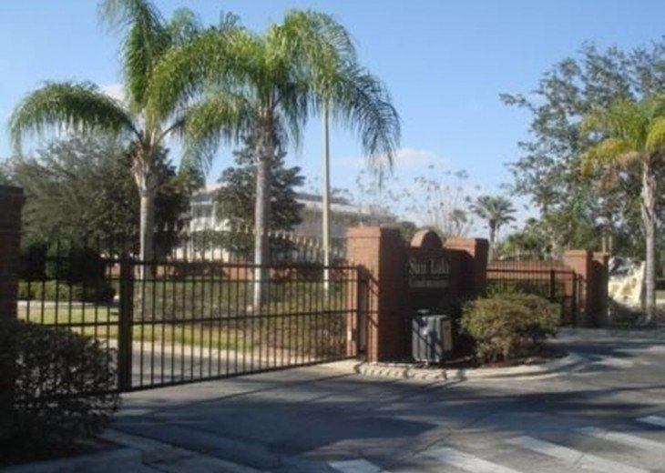 Gated community. Operates with codes so you come and go any time