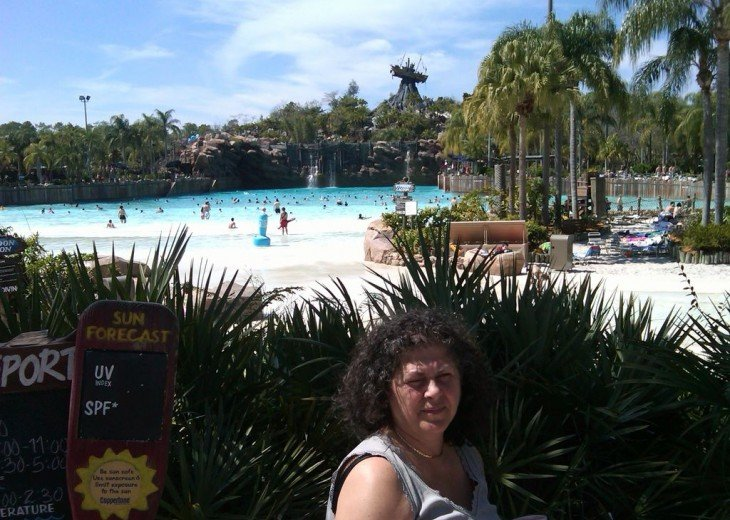 want to go to the beach to Disney? Typhoon lagoon. just next door to our condo