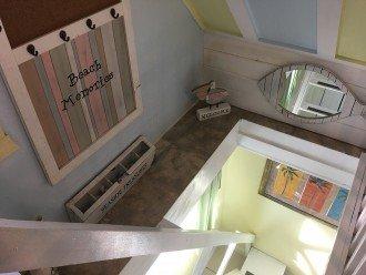 Stairway to loft bedroom