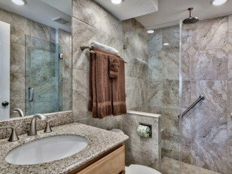 Walk in Glass Tile/Shower/Granite Tops