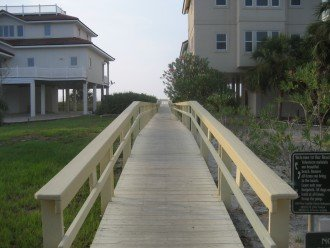 To Access The Beach Plantation Installed Boardwalks Between Houses
