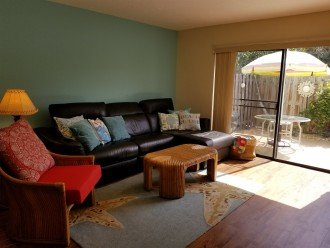 Recliner couch and private patio