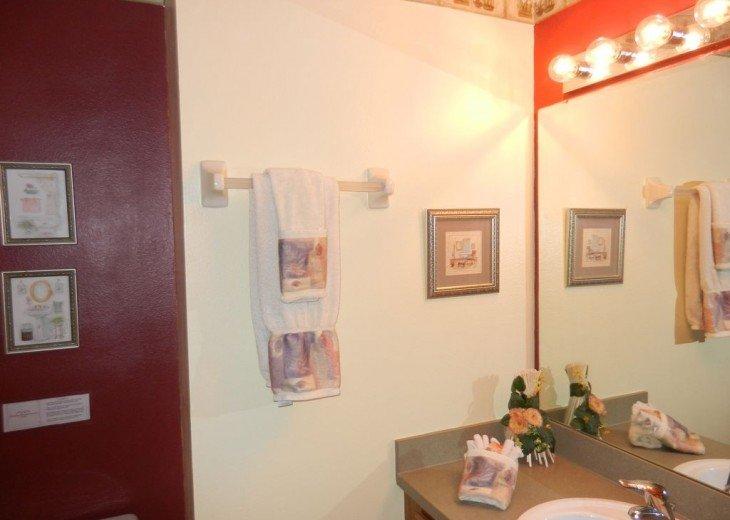 First floor master bedroom bathroom showing sink