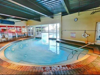 Indoor pool at the Pelican. Second building on the property but you have access