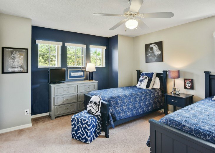 No rear neighbors! South Facing Pool and Disney Themed Bedrooms! Updated Kitchen #25