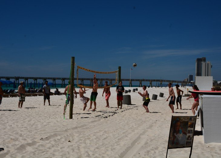 Start a rousing volleyball game with other beachgoers or just enjoy watching!