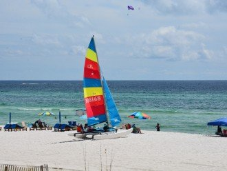 Parasailing, jet skis, paddle boards...all available right at the beach.