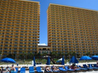 View of East and West Towers from the Surf