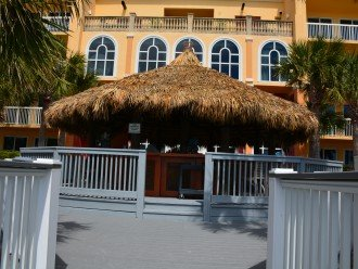 New trex decking at the pool and Tiki bar area where you can enjoy a beverage