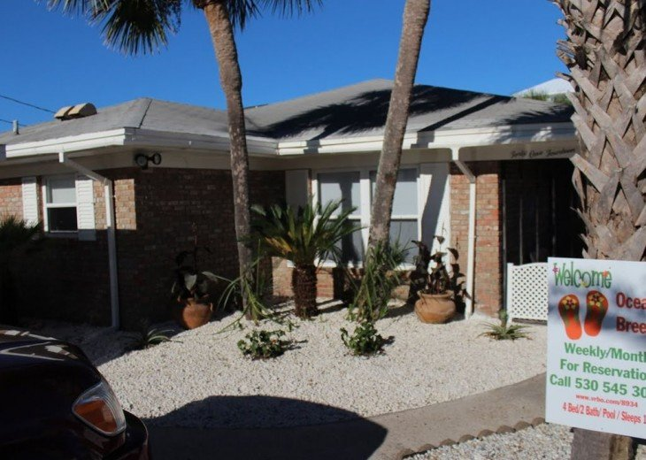 Newly Remodeled Private House w/pool, 200 ft from Beach! WiFi Screened Fla Room #3