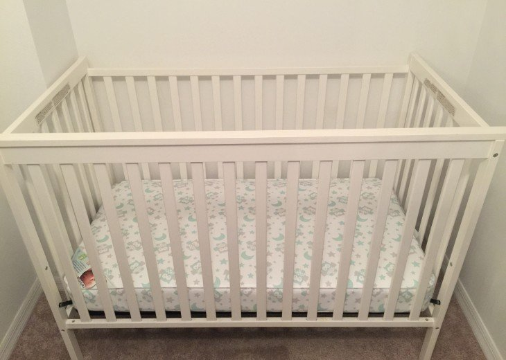 Full size baby crib, high chair, pac n play, booster seat