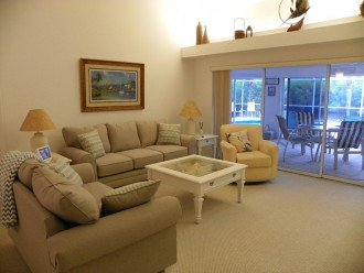 Living room looking to lanai