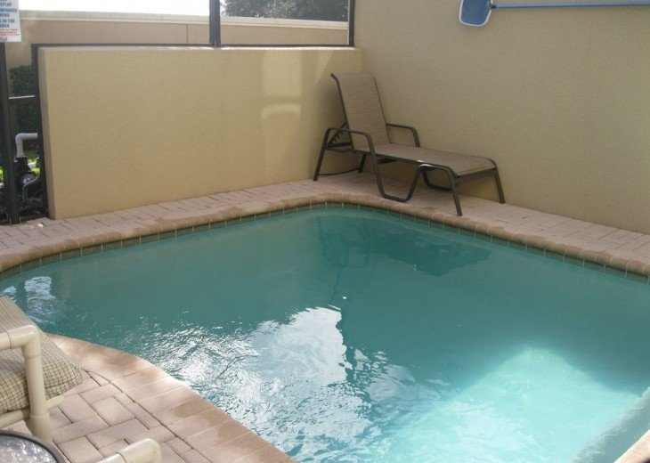 Our private pool off of the living room =) The kids will LOVE it.