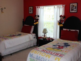 Kids Mickey Mouse Theme bedroom (3 twin beds)