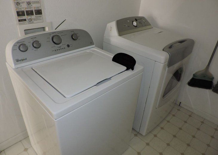 Washer and drier, no need to fill suitcase with clothes, save room for shopping