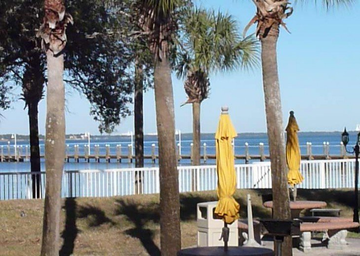 Bayside grill area
