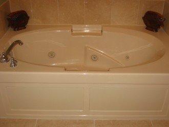 Master bathroom whirpool tub