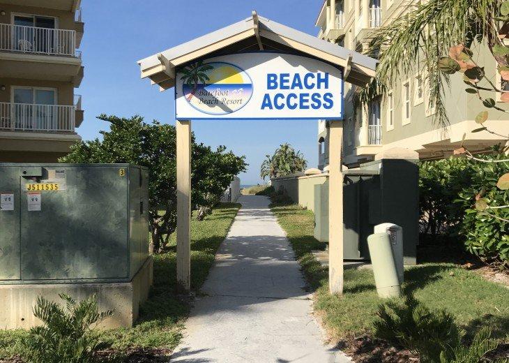 Private Barefoot Beach Access Across the Street
