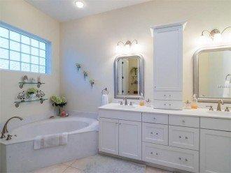 Master bathroom, Vanity, tub and large shower.