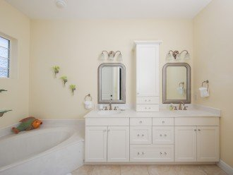 2nd level master bedroom bathroom, there is a large walk in shower as well.