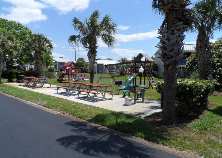 Playground and Picnic area with grills