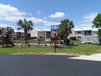 Playground and basketball area