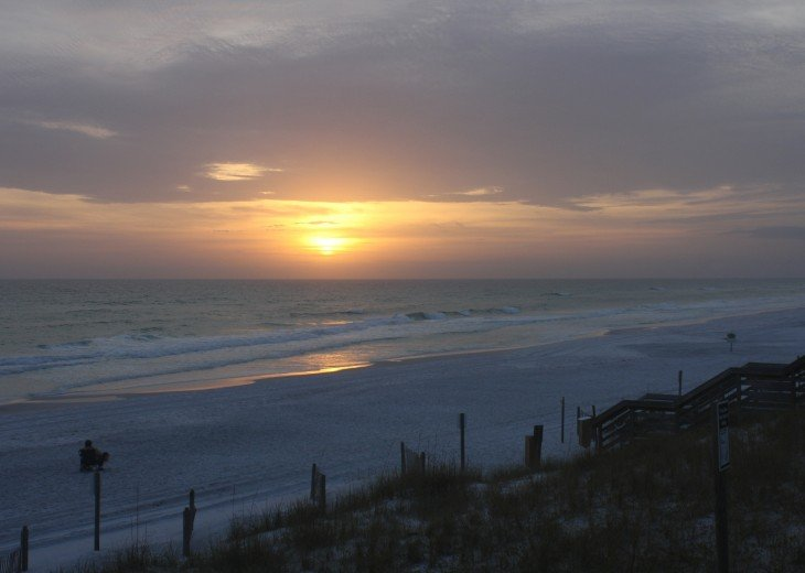 Enjoy the peace and serenity of Miramar Beach at sunset