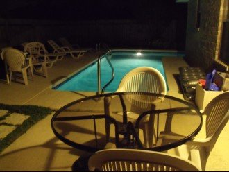 Both pool and patio are lighted for your night-time enjoyment
