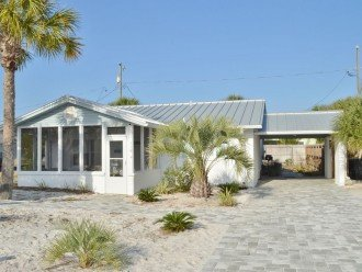Ocean View Beach House - Steps to the Gulf! Grill Area, Outdoor Shower, WiFi #1