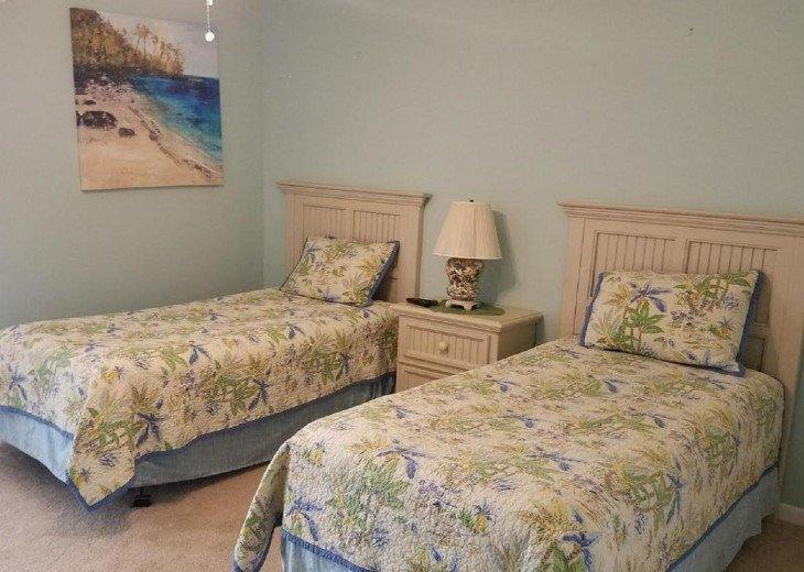 TWIN BED OPTION or ASK for KING CONVERSION SETUP at booking! Dbl. closet to R.