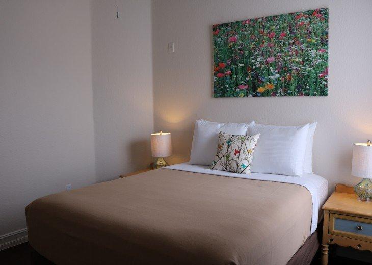 Bedroom 2 - Queen Bed, walk in closet