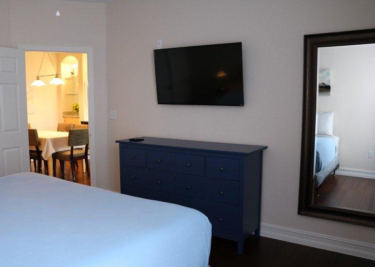 Master Bedroom - flat screen TV, chest, walk in closet, ceiling fan, en-suite