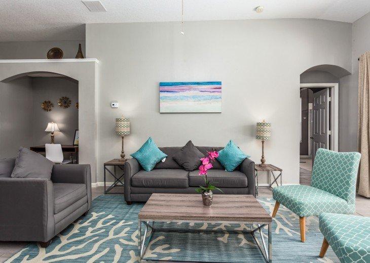 Discover newly refurbished 4 BR Windsor Palms Resort #7