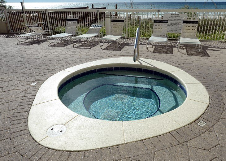 Beach front hot tub