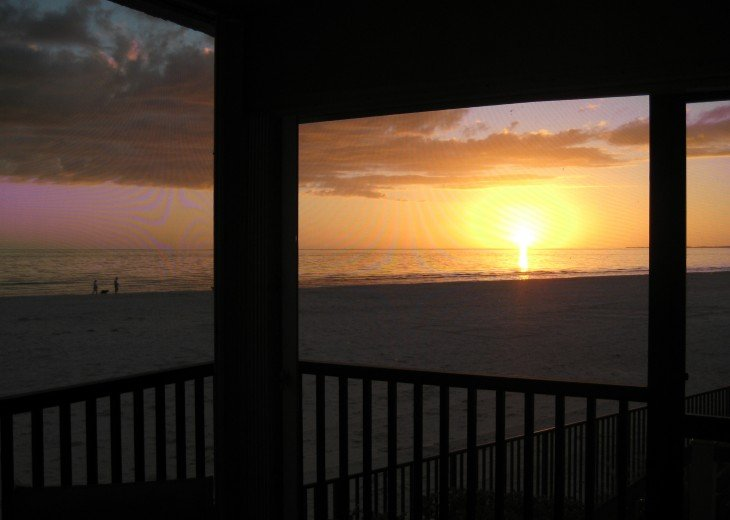 Watch the sunset from the condo lanai.