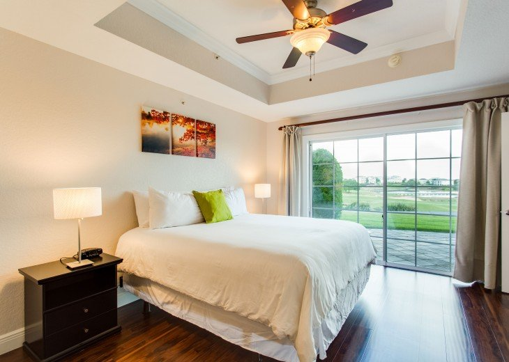King Bedroom with Golf View
