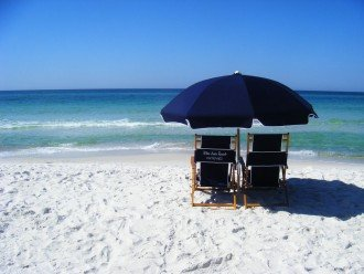 This could be you relaxing on the sands of the Gulf of Mexico.