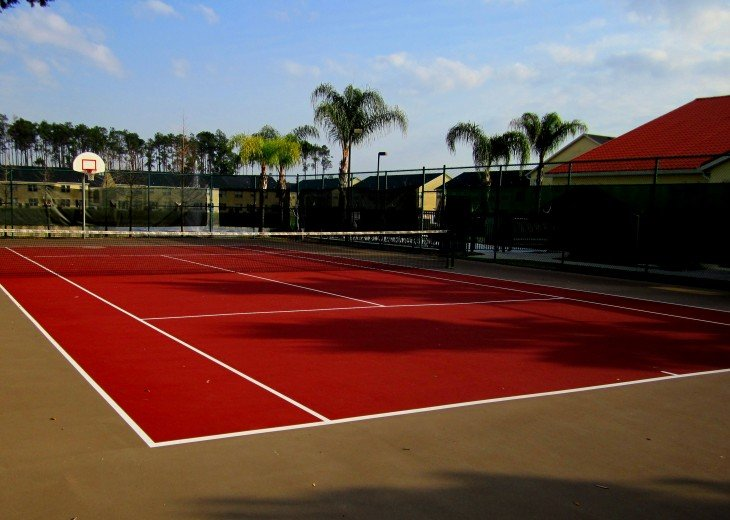 TENNIS COURT AND BASKETBALL COURTS AVAILABLE FOR OUR GUESTS