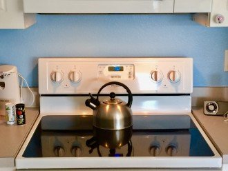 NEW WHIRLPOOL FLAT TOP STOVE AND OVEN