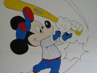 mickey in game room
