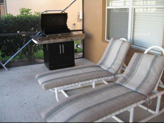 BBQ and lounge chairs