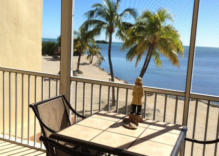 Oceanfront condo with wi fi ,screened deck #5
