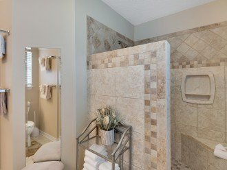 Large walk-in shower in master bath, Caribbean style