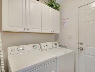 Separate laundry room with full size W/D