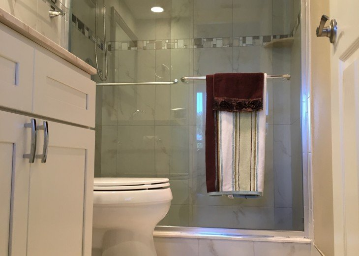 Fully renovated master bathroom