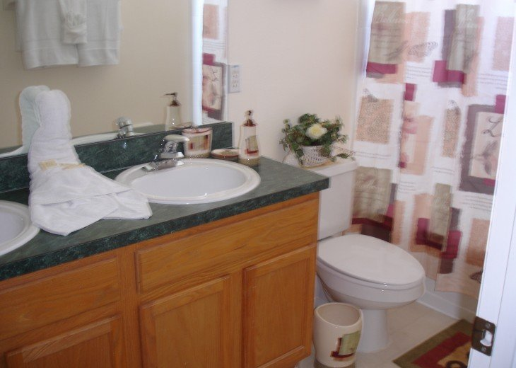 Ensuite bathroom, Fitted hairdryer double vanity, bath, shower