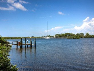 View from the dock of the historic Anclote waterway